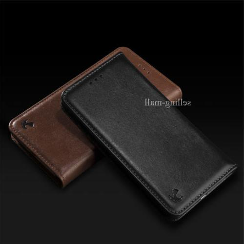 For 8 7 6 Max Xr X Wallet Case Cover Black Removable