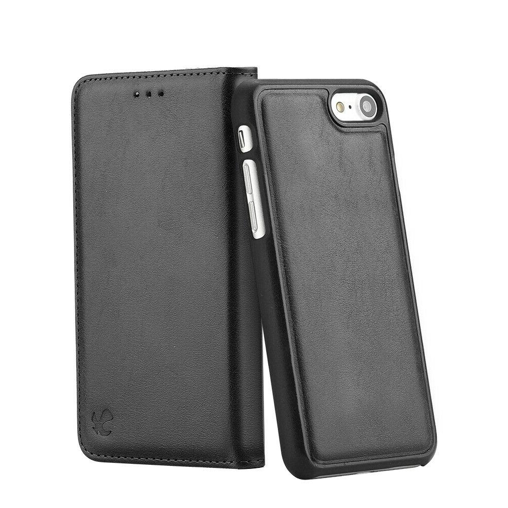 For iPhone 7 6 Plus Max Leather Wallet Case Removable