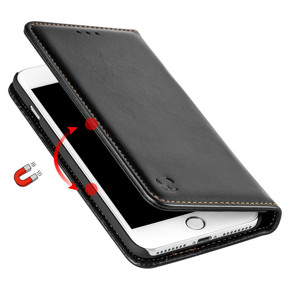 black removable leather flip wallet case protective