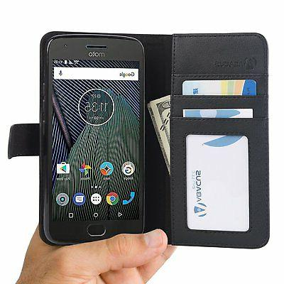 black wallet flip case cover