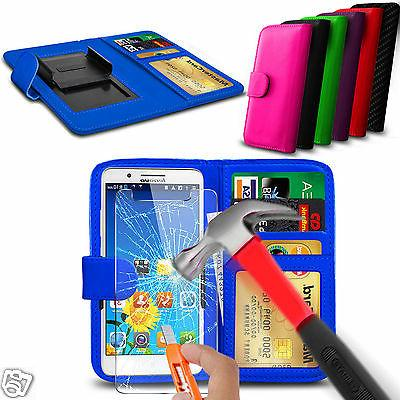 For Blackview Acme - Glass & Clip On PU Leather Wallet Case