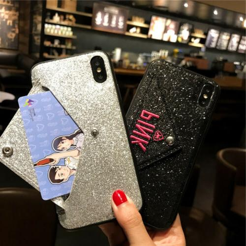 Bling Card Wallet iPhone X 8 Plus
