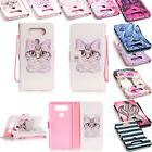 Boys Girls Leather Printed Magnet Flip Wallet Phone Stand Co