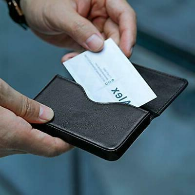 MaxGear Card Case Leather Pocket Card Holders