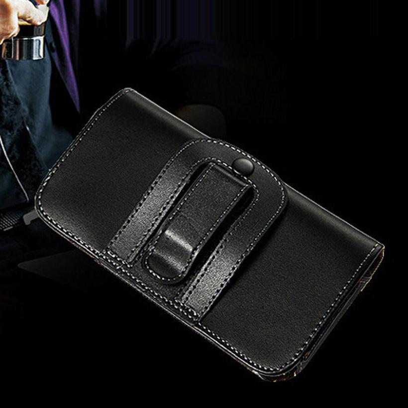 Business Clip Holster PU Leather Wallet Carry Pouch