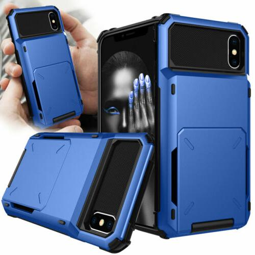 Card Case Rugged Wallet for XS Max XR 7 6s Plus