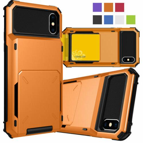 Card Case Side Rugged for iPhone XR 8 7 Plus