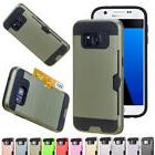Card Holder Wallet Hybrid Hard Case Cover For Samsung Galaxy