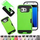 Card Wallet Hybrid Silicone Hard Case Brush Back Cover For S