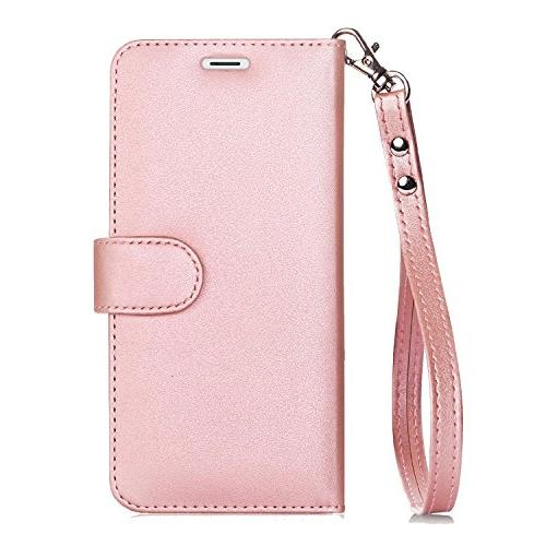 FYY Case for 6S Flip Folio Leather Case and Credit Card for Apple 6/6S Rose Gold