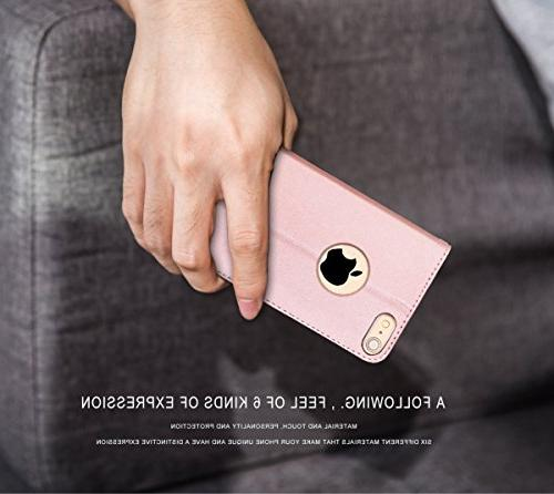 FYY Case 6S 6 Flip Leather Case with Credit Card Apple Rose