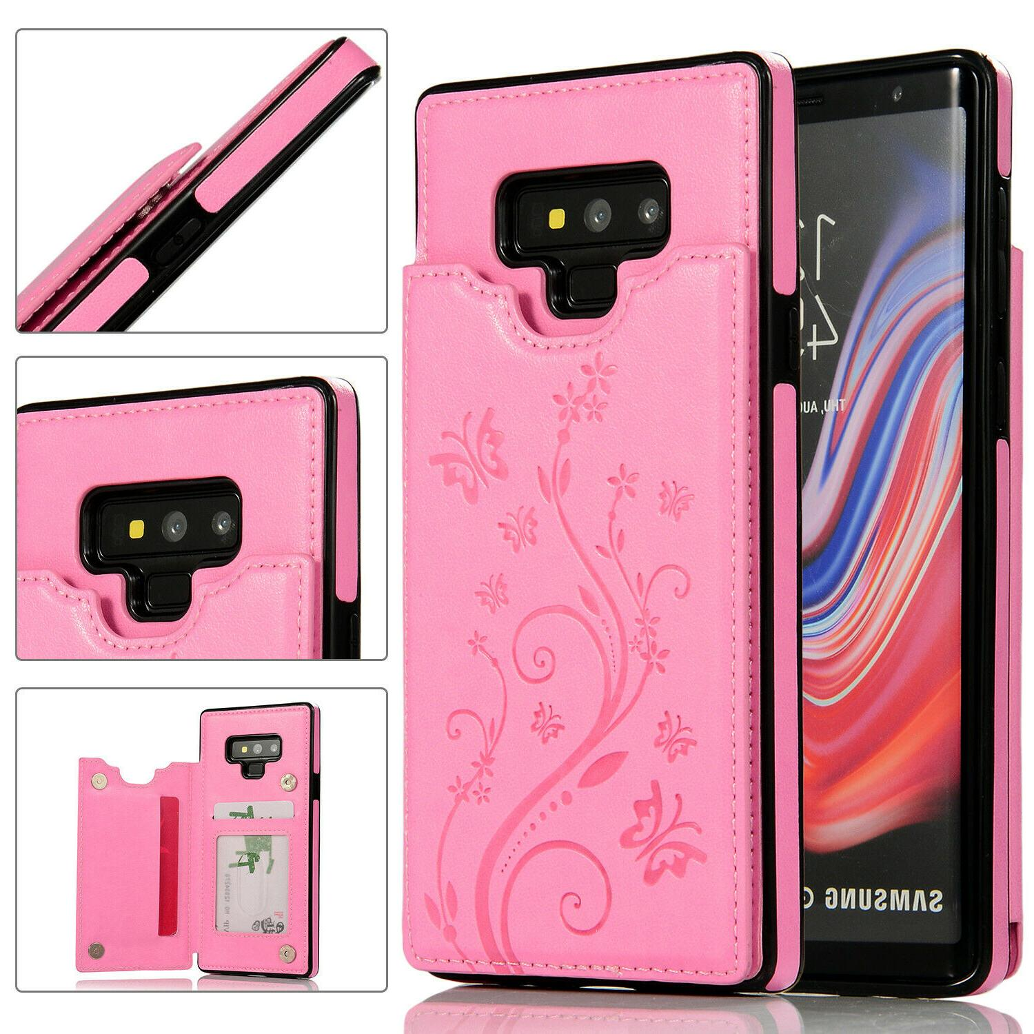 Case Cover Galaxy Note 8 Magnetic Wallet Card Phone