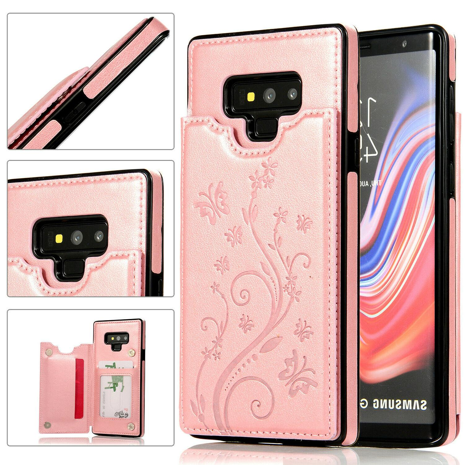 Case Galaxy Note 9 Note 8 Magnetic Leather Card Phone