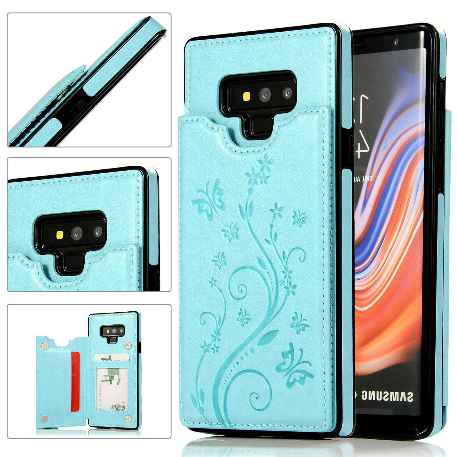 Case Cover Galaxy Note 8 Magnetic Leather Wallet Card Phone