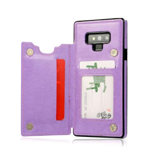 Case Cover For Samsung Galaxy 8 Magnetic Leather Card Phone
