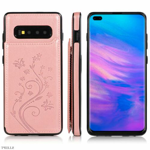 Case Galaxy S10e S9 Plus S7 Wallet Phone