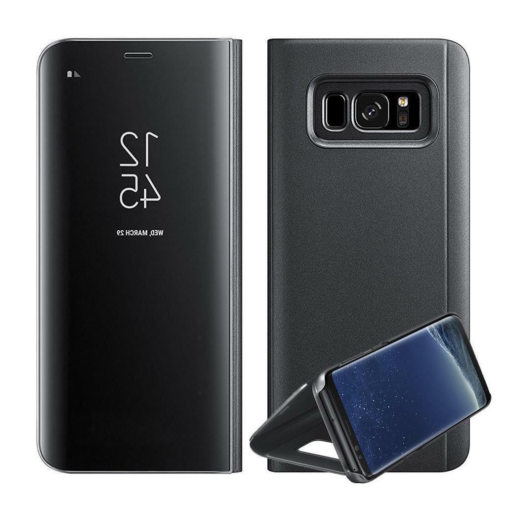 Case For S7 S8 S9 Smart View Mirror Flip Stand