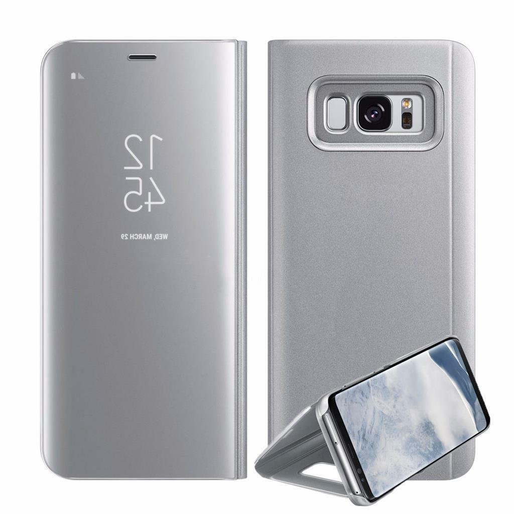 Case For Samsung S7 S8 S9 Smart View Wallet Flip Cover