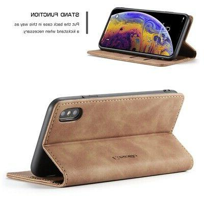 Caseme Business Wallet Cover Max/XR 7/8 Leather Magneic Flip