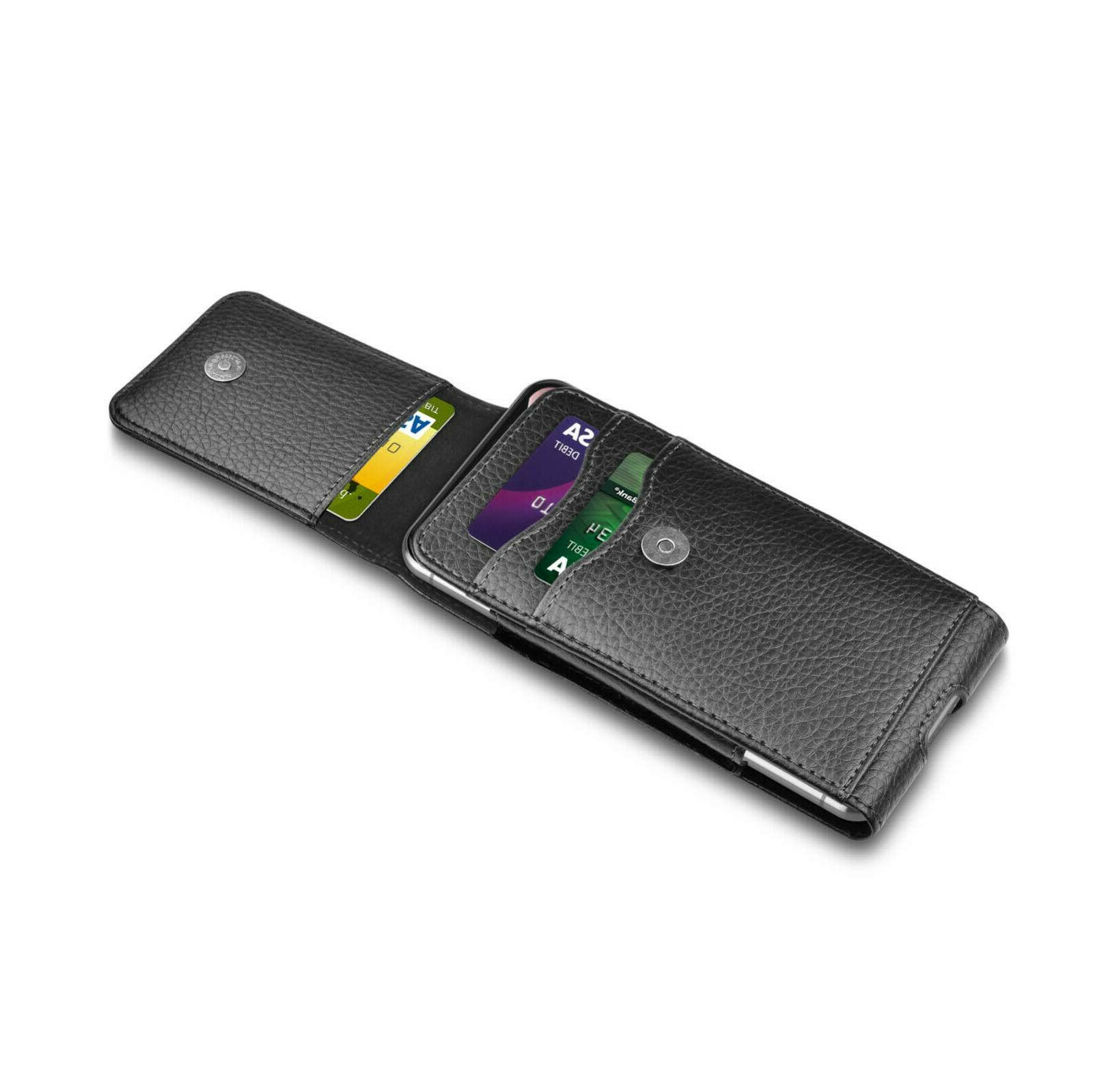 For Cell Wallet Case Holster With Clip Card Holder