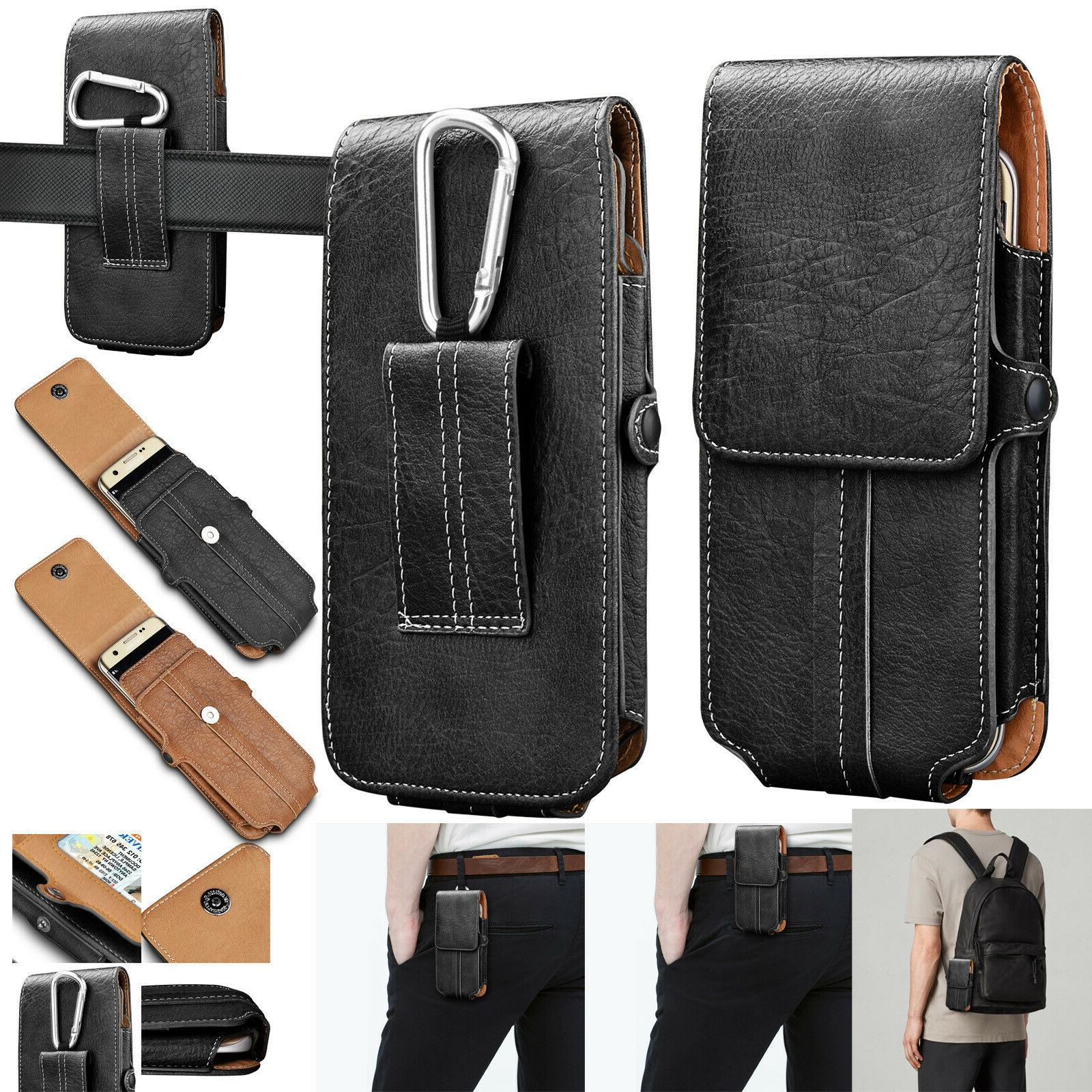 cell phones vertical leather carrying pouch case