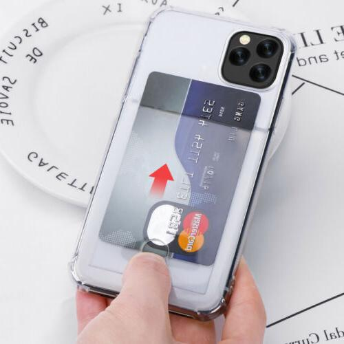Clear Wallet Card Pocket iPhone MAX XR 8 7 Plus