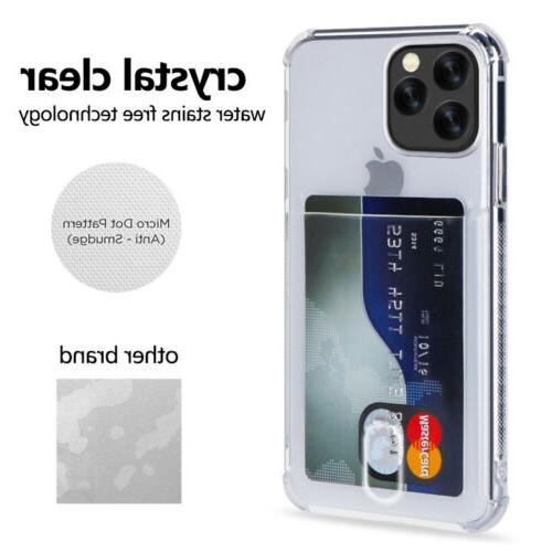 Clear Wallet Credit iPhone 11 Pro MAX XR XS 8 7 Plus
