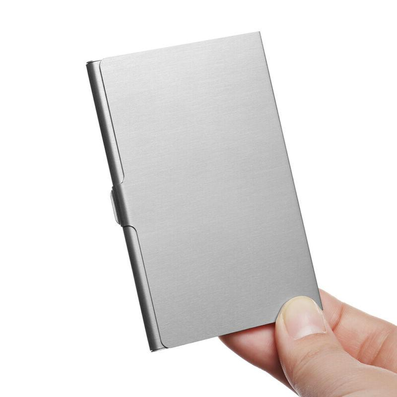 Steel Collection Box Card Metal Pocket Business Case