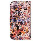 Bcov Colorful Skulls Leather Wallet Cover Case For iPhone 6S