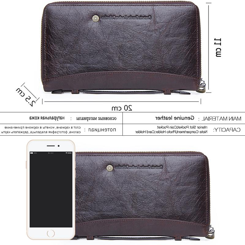 Contact'<font><b>s</b></font> Genuine Leather Clutch Holder Wrist Organizer Money Bag Purse