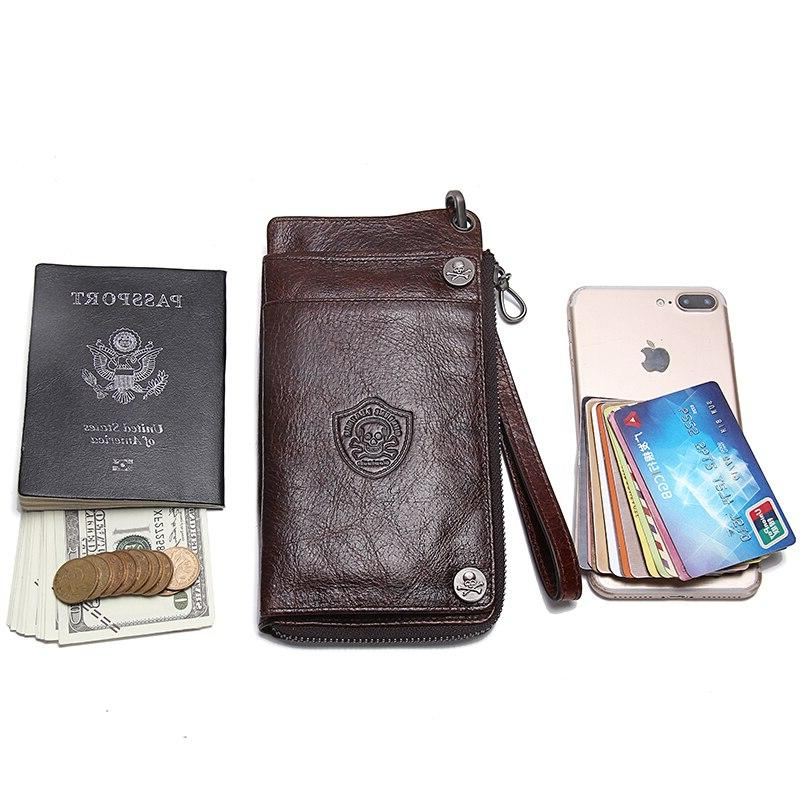 Contact'<font><b>s</b></font> Travel <font><b>Case</b></font> Passport Leather <font><b>Men</b></font> <font><b>Wallet</b></font> Male Clutch Coin Purse