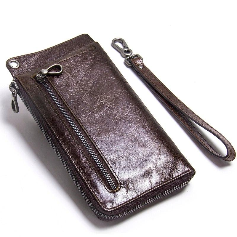 Contact'<font><b>s</b></font> <font><b>Case</b></font> Leather <font><b>Wallet</b></font> Male Clutch Credit Coin