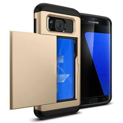 Credit Shockproof Wallet Case Samsung S7 / Edge
