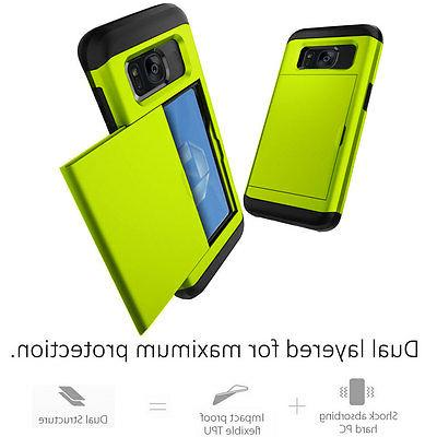 Credit Card Holder Slide Phone For Galaxy / S7