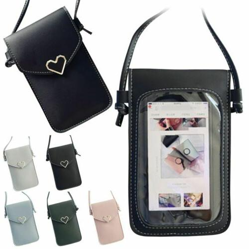 Cross-body Touch Screen Cell Phone Wallet Shoulder Bag Leath