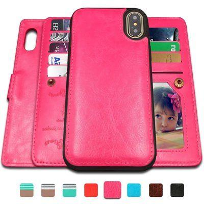 Detachable wallet Card Slots Case Cover Wrist XS