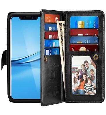 Detachable Leather wallet 9 Card Slots Wrist Strap XS 8
