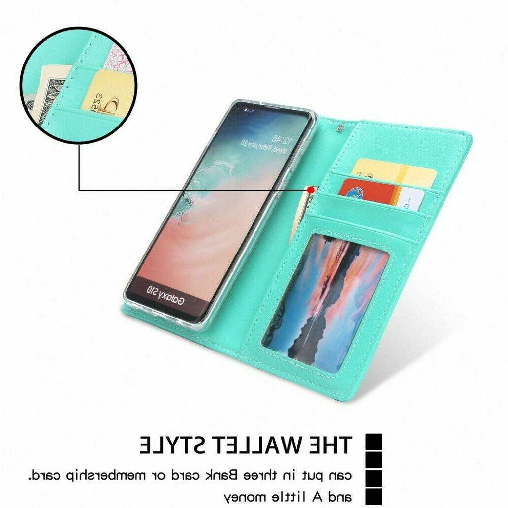 Detachable Slot Leather Case Cover For Samsung Galaxy S10
