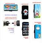 Doraemon Nobita Cartoon leather wallet phone case for Samsun