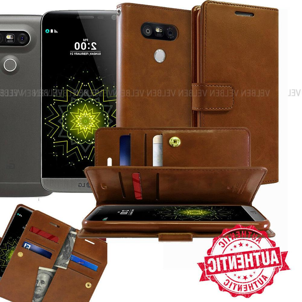 Goospery Double Fold Dual Flip Leather Book wallet Case cove