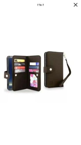 dual leather wallet folio case for iphone
