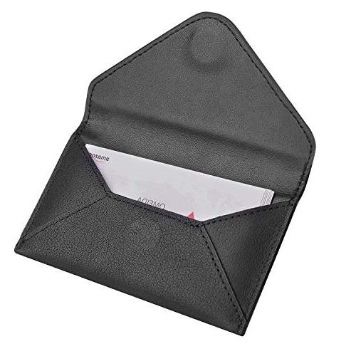 MaxGear Envelope Business Holder Genuine Card Case with Magnetic Shut