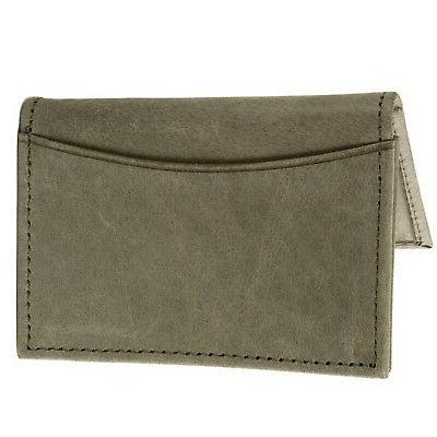 Alpine Swiss Expandable Card Genuine Leather Front Wallet