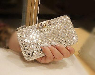 Fashion Bling Crystal Wallet For iPhone / S10+