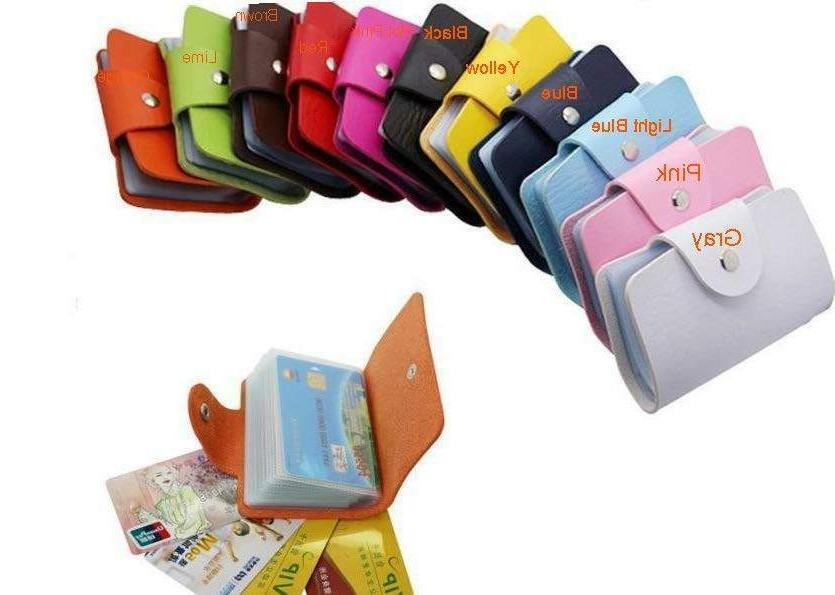 Faux Card Wallet 24 Cards Cards
