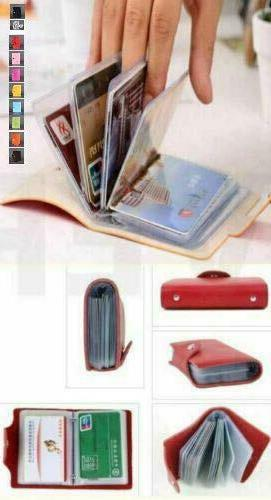 Faux Leather ID Card Case 24 Cards