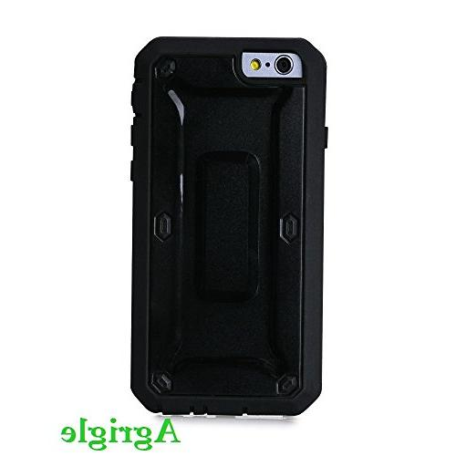Agrigle Fit Series Dual Layer Heavy with Built-in Screen for iPhone 6 Black