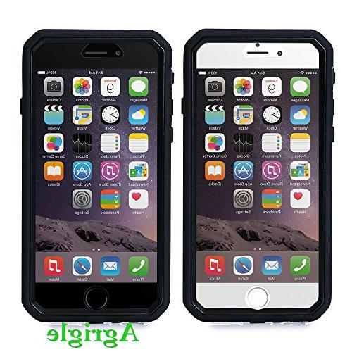Agrigle Fit Layer Armor Defender Heavy Duty Case with Built-in Protector for iPhone Black
