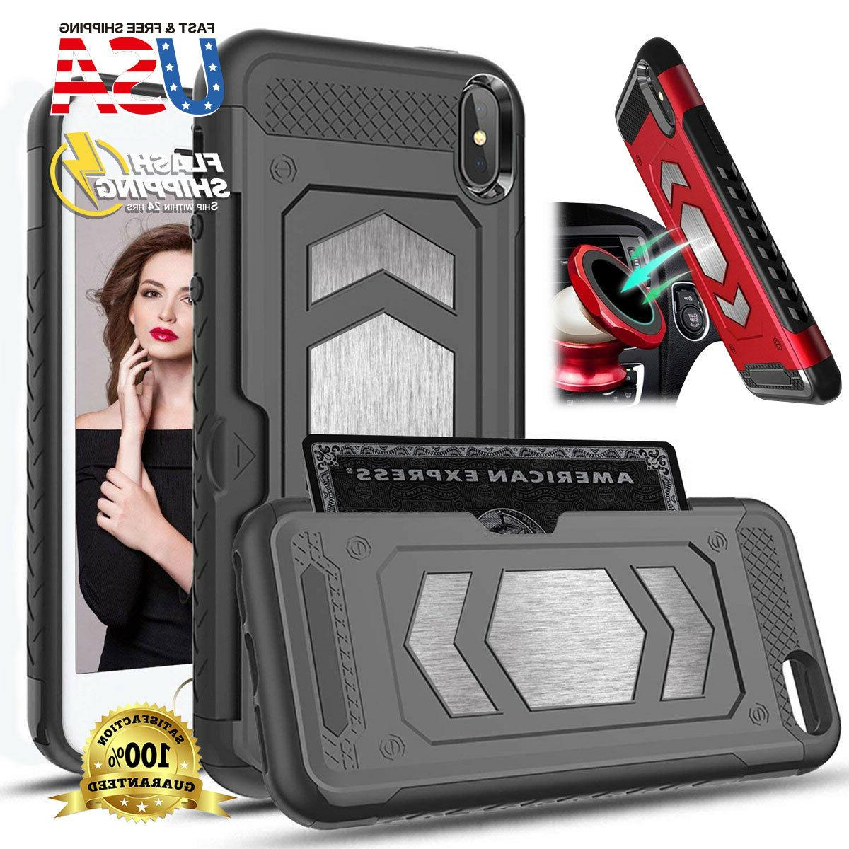 fits apple iphone case magnetic dual layer