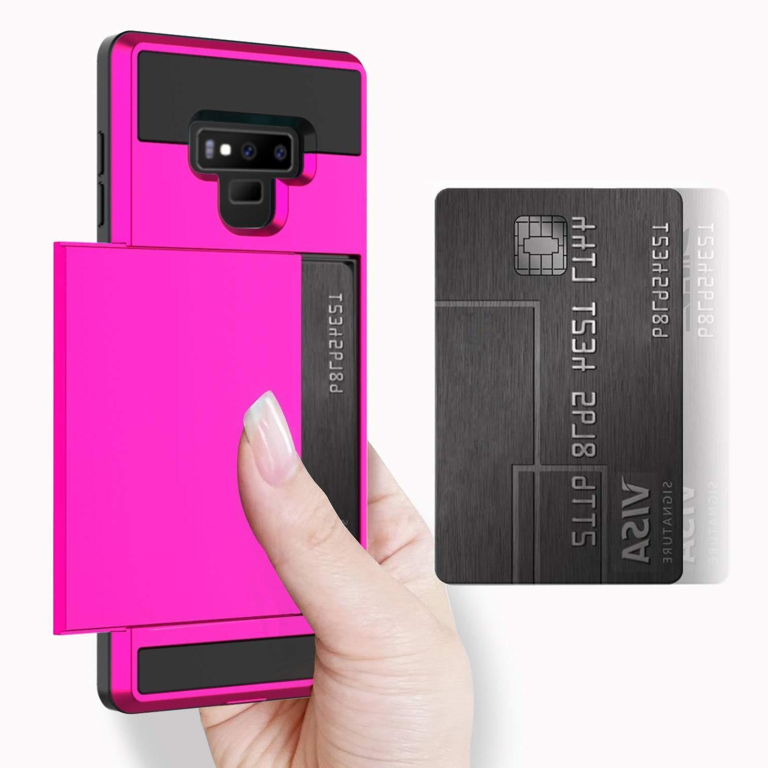 Fits Samsung Galaxy Sliding Case Credit Card Slot Cover